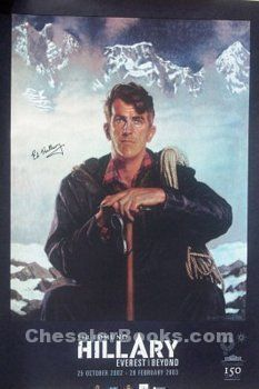 50th Anniversary Decorations on Edmund Hillary 50th Anniversary Poster Signed By Sir Edmund Hillary