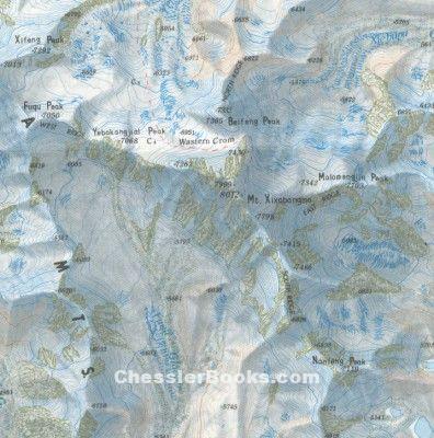 Buy Here Pay Here Ma >> MOUNT XIXABANGMA MAP. 1:50,000 color topo map. Shishapangma :: Chessler Books