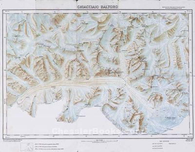 K2 Mountain Map Topographical map of India and Himalaya region with Karakoram fault ...